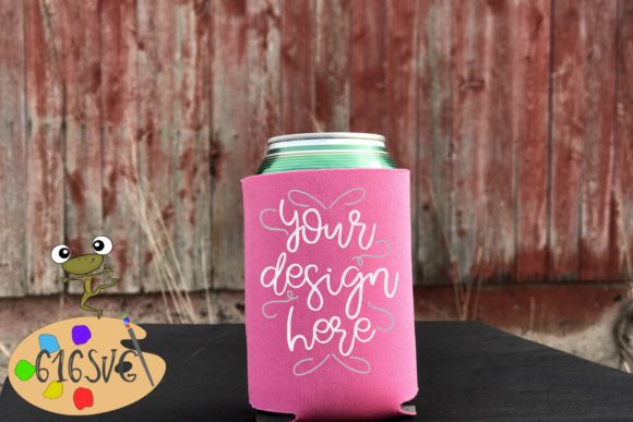 Neon Pink Can Cooler Mockup Graphic Product Mockups By 616SVG