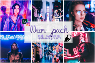 Download Free Neon Presets Lightroom Mobile Pc Graphic By 2suns Creative Fabrica SVG Cut Files