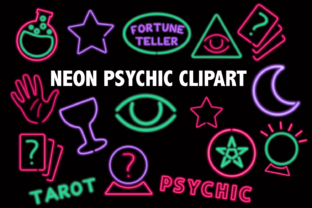 Neon Psychic Clipart Graphic By Mine Eyes Design