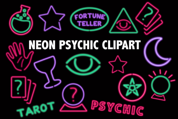 Download Free Neon Psychic Clipart Graphic By Mine Eyes Design Creative Fabrica for Cricut Explore, Silhouette and other cutting machines.