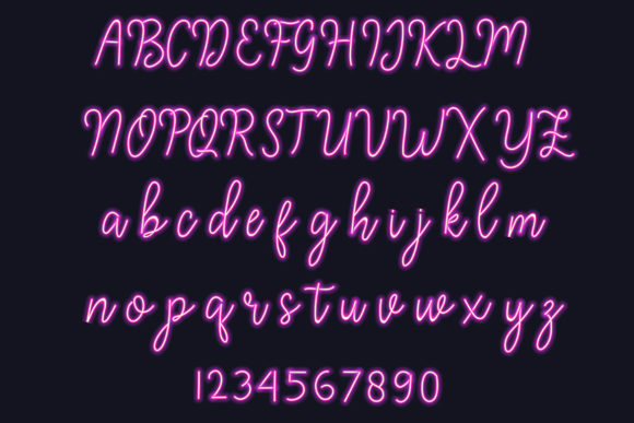 Download Free Neon Style Script Alphabet Vector Graphic By Aminmario for Cricut Explore, Silhouette and other cutting machines.