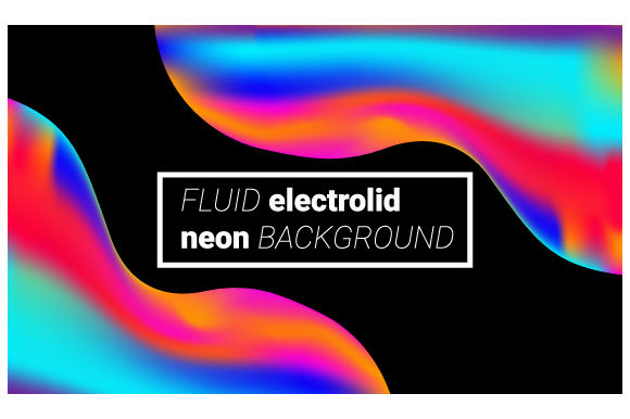 Print on Demand: Neon Liquid  Futuristic Graphic Backgrounds By iop_micro