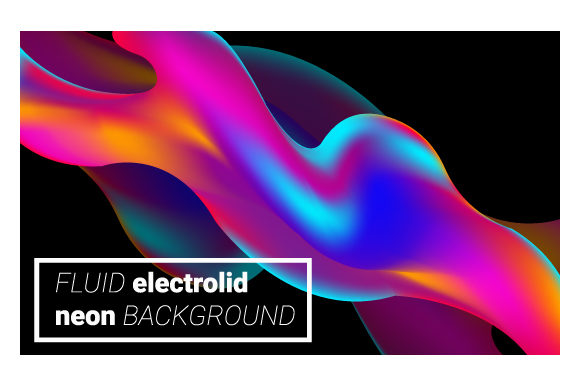 Print on Demand: Neon Liquid Splash Colorful Futuristic Graphic Backgrounds By iop_micro