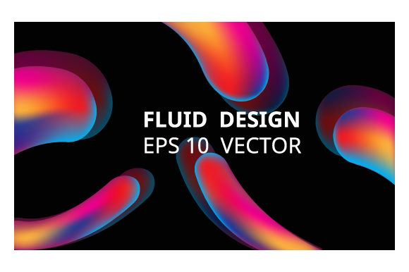 Print on Demand: Neon Liquid Splash Colorful . Futuristic Graphic Backgrounds By iop_micro - Image 1