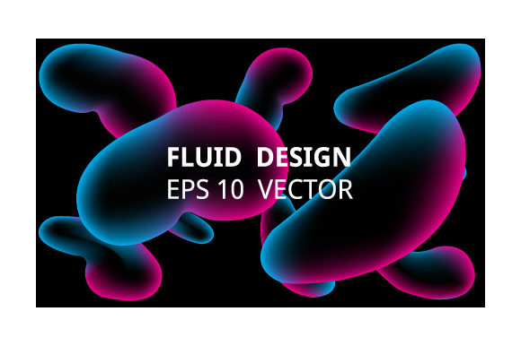 Print on Demand: Neon Liquid Splash Colorful . Futuristic Graphic Backgrounds By iop_micro