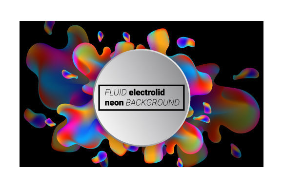 Print on Demand: Neon Liquid Splash Colorful Graphic Backgrounds By iop_micro