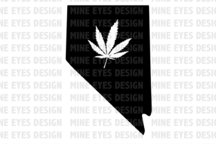 Nevada Weed State SVG Graphic By Mine Eyes Design