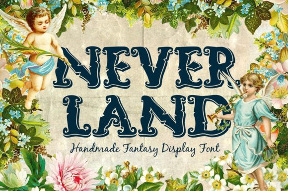 Print on Demand: Neverland Display Font By tsvgraphic