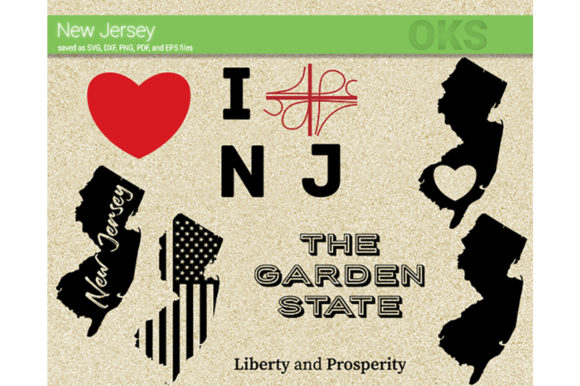New Jersey Vector Graphic By Crafteroks Creative Fabrica