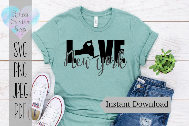 Download Free New York Love State Svg Svg File Graphic By for Cricut Explore, Silhouette and other cutting machines.