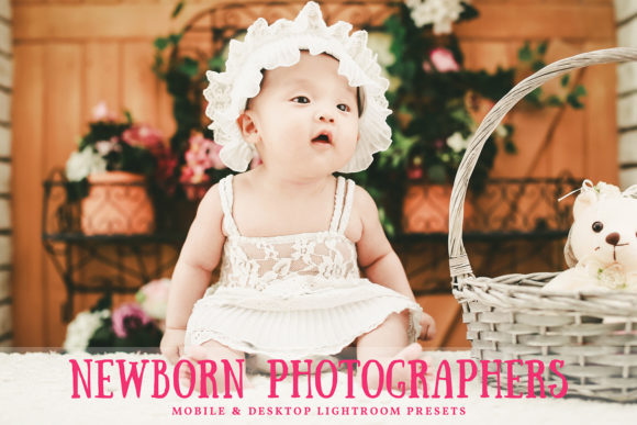 Print on Demand: Newborn Photographers Lightroom Presets Graphic Actions & Presets By Creative Tacos