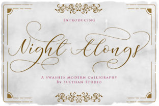 Night Alongs Script Font By Sulthan Studio
