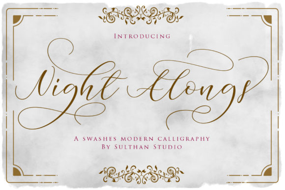 Print on Demand: Night Alongs Script Script & Handwritten Font By Sulthan Studio