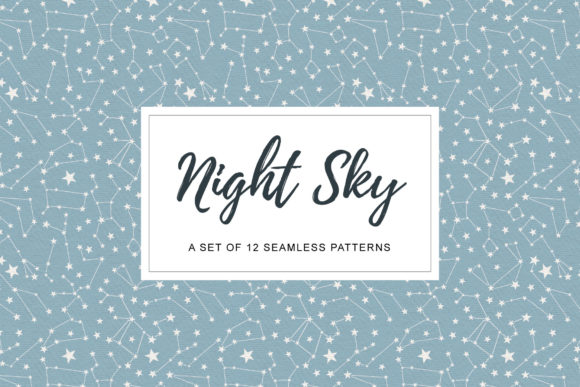 Night Sky Patterns Graphic Patterns By anatartan