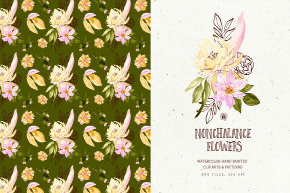 Nonchalance Flowers Graphic Illustrations By webvilla - Image 5