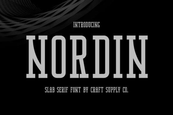 Print on Demand: Nordin Serif Fuente Por craftsupplyco