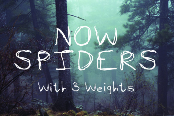 Print on Demand: Now Spiders Script & Handwritten Font By GraphicsBam Fonts