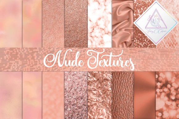 Print on Demand: Nude Textures Digital Paper Graphic Textures By fantasycliparts
