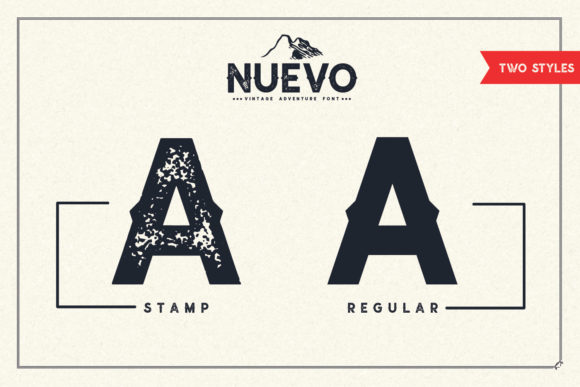 Print on Demand: Nuevo Display Font By Sameeh Media - Image 4