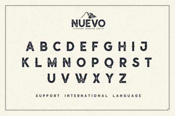 Print on Demand: Nuevo Display Font By Sameeh Media - Image 5