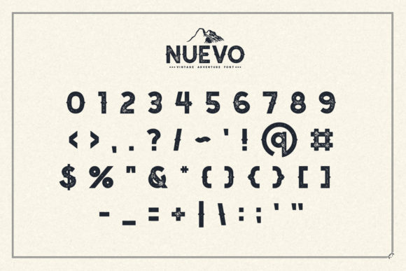 Print on Demand: Nuevo Display Font By Sameeh Media - Image 6