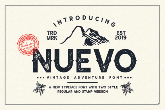 Print on Demand: Nuevo Display Font By Graphicfresh