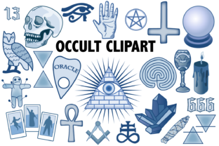 Occult Clipart Graphic By Mine Eyes Design