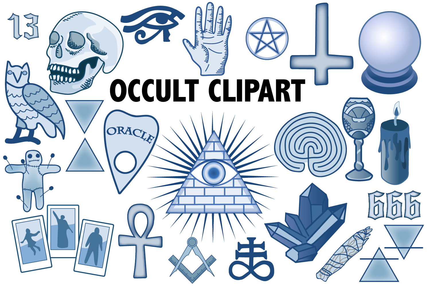 Download Free Occult Clipart Graphic By Mine Eyes Design Creative Fabrica for Cricut Explore, Silhouette and other cutting machines.