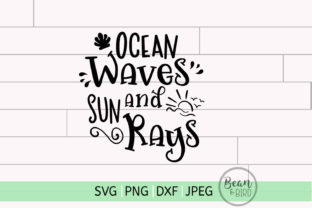 Ocean Waves & Summer Rays Summer SVG Graphic By Jessica Maike