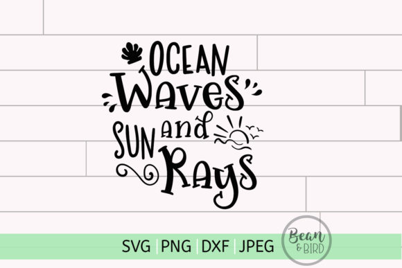Download Free Ocean Waves Summer Rays Summer Svg Graphic By Jessica Maike for Cricut Explore, Silhouette and other cutting machines.