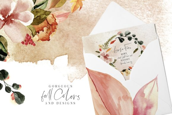 October Tones Watercolor Clipart