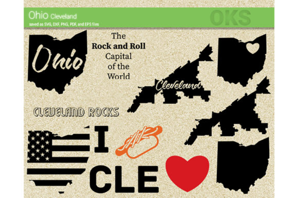 Download Free Ohio Cleveland Svg Vector Graphic By Crafteroks Creative Fabrica for Cricut Explore, Silhouette and other cutting machines.