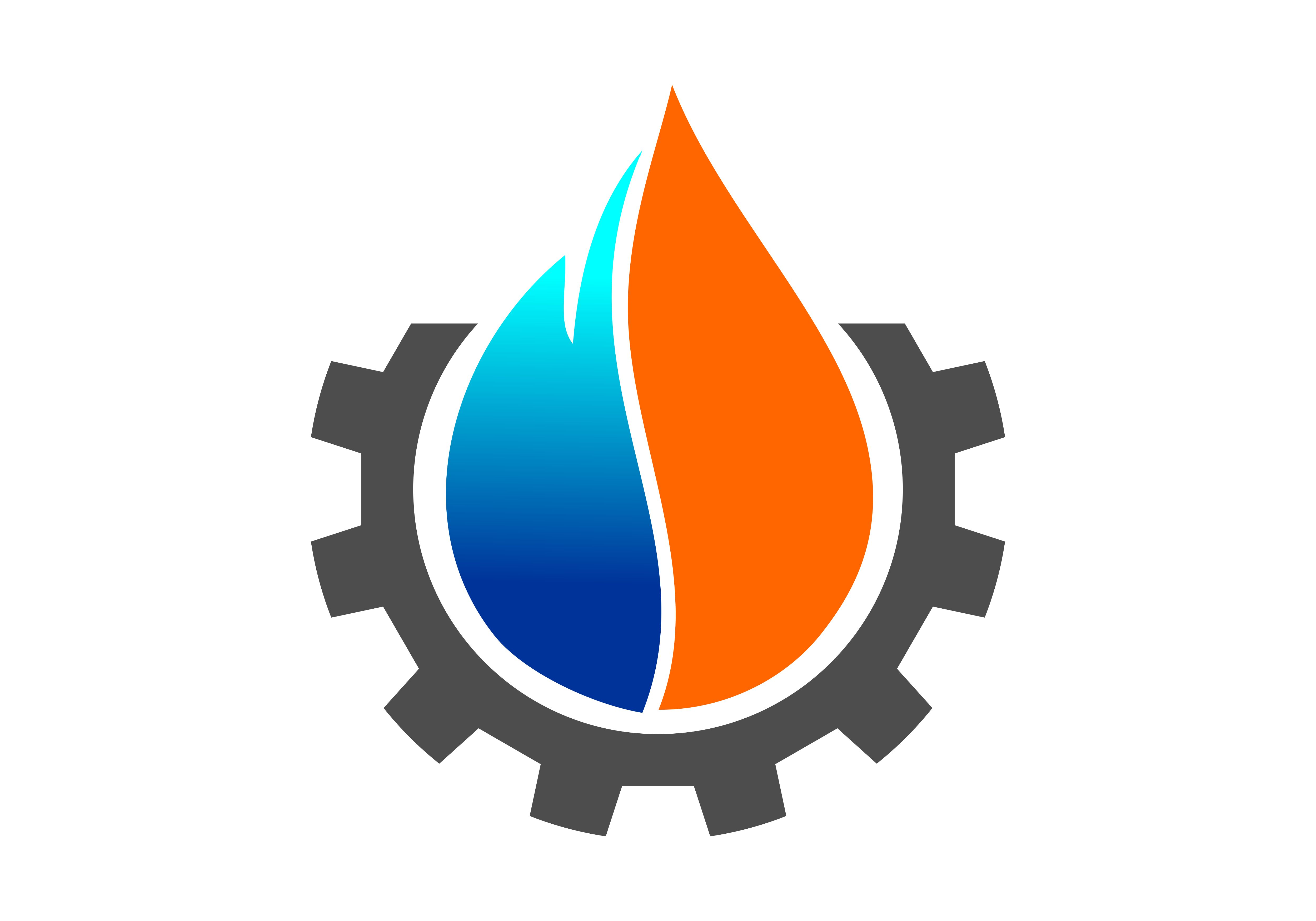 Download Free Oil And Gas Fire Logo Vector Graphic By Deemka Studio for Cricut Explore, Silhouette and other cutting machines.