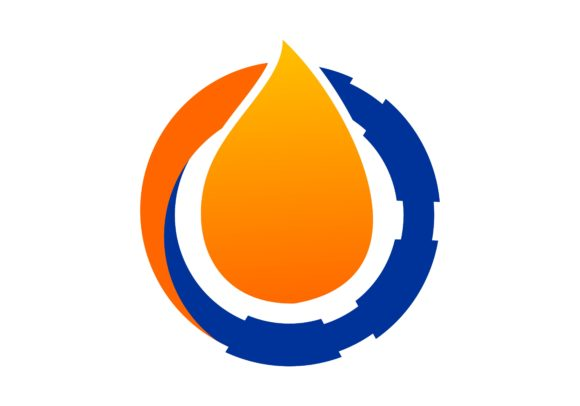 Oil And Pipe Drop Of Water Logo Graphic By Deemka Studio