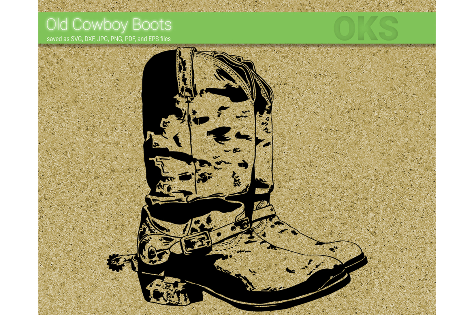 Old Cowboy Boots Svg Vector