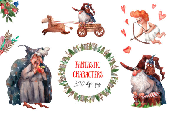 Download Free Old Old Fairy Tale 2 Watercolor Set Graphic By Mashamashastu SVG Cut Files