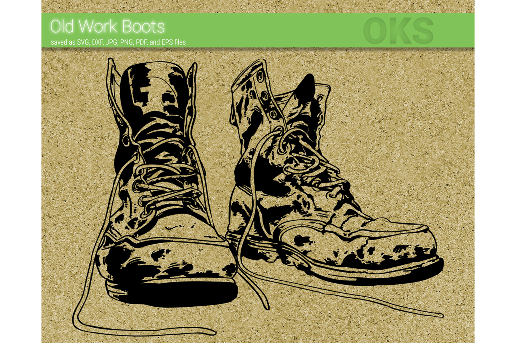 Download Free Old Work Boots Svg Vector Graphic By Crafteroks Creative Fabrica for Cricut Explore, Silhouette and other cutting machines.