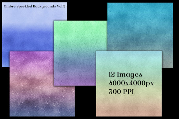 Print on Demand: Ombre Speckled Backgrounds Vol 2 Graphic Backgrounds By SapphireXDesigns - Image 2