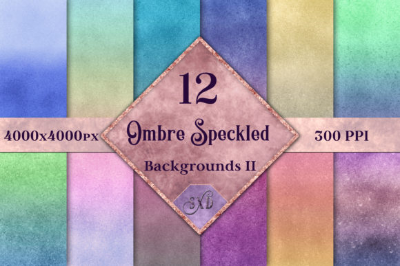 Print on Demand: Ombre Speckled Backgrounds Vol 2 Graphic Backgrounds By SapphireXDesigns