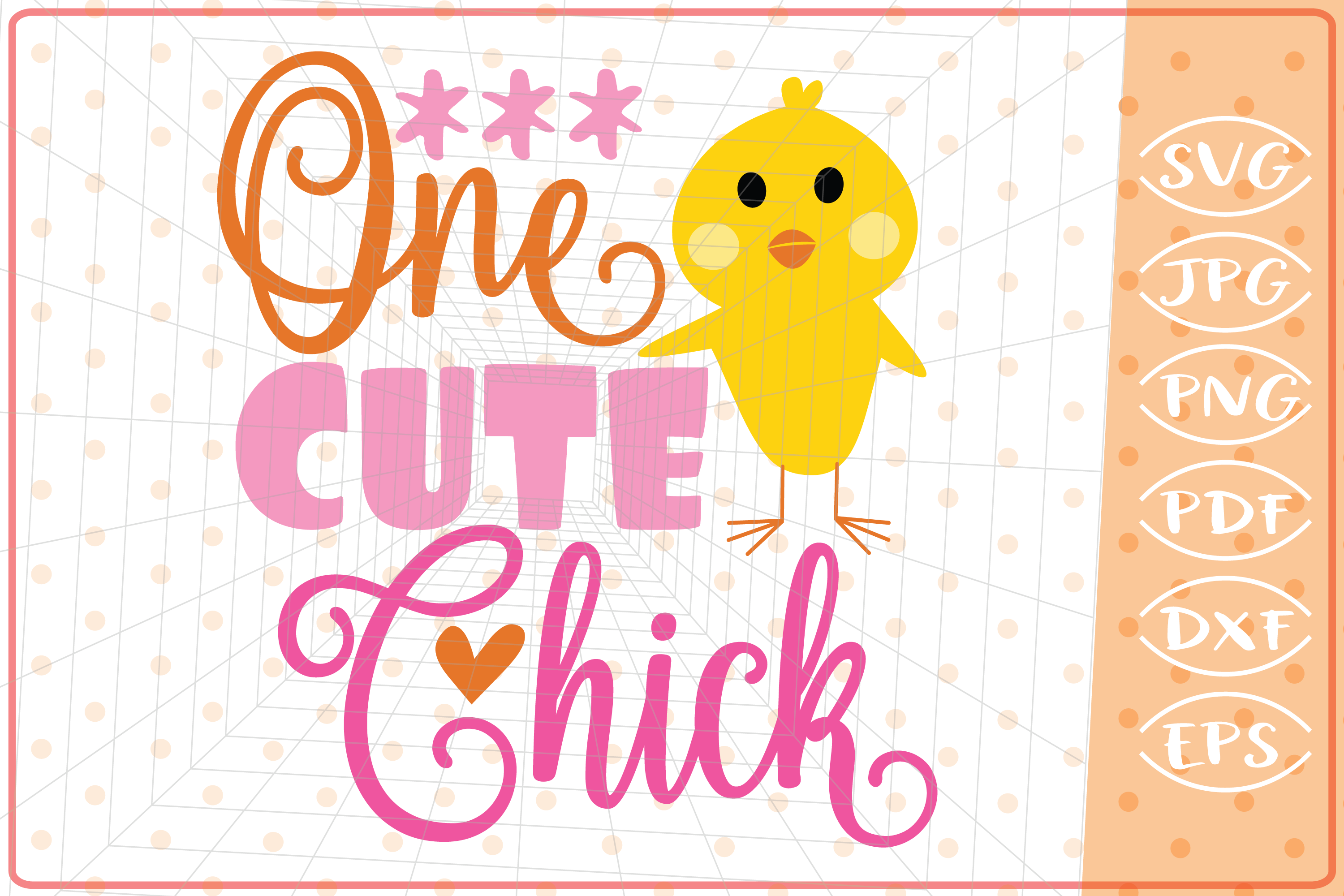 Download Free One Cute Chick Graphic By Cute Graphic Creative Fabrica for Cricut Explore, Silhouette and other cutting machines.