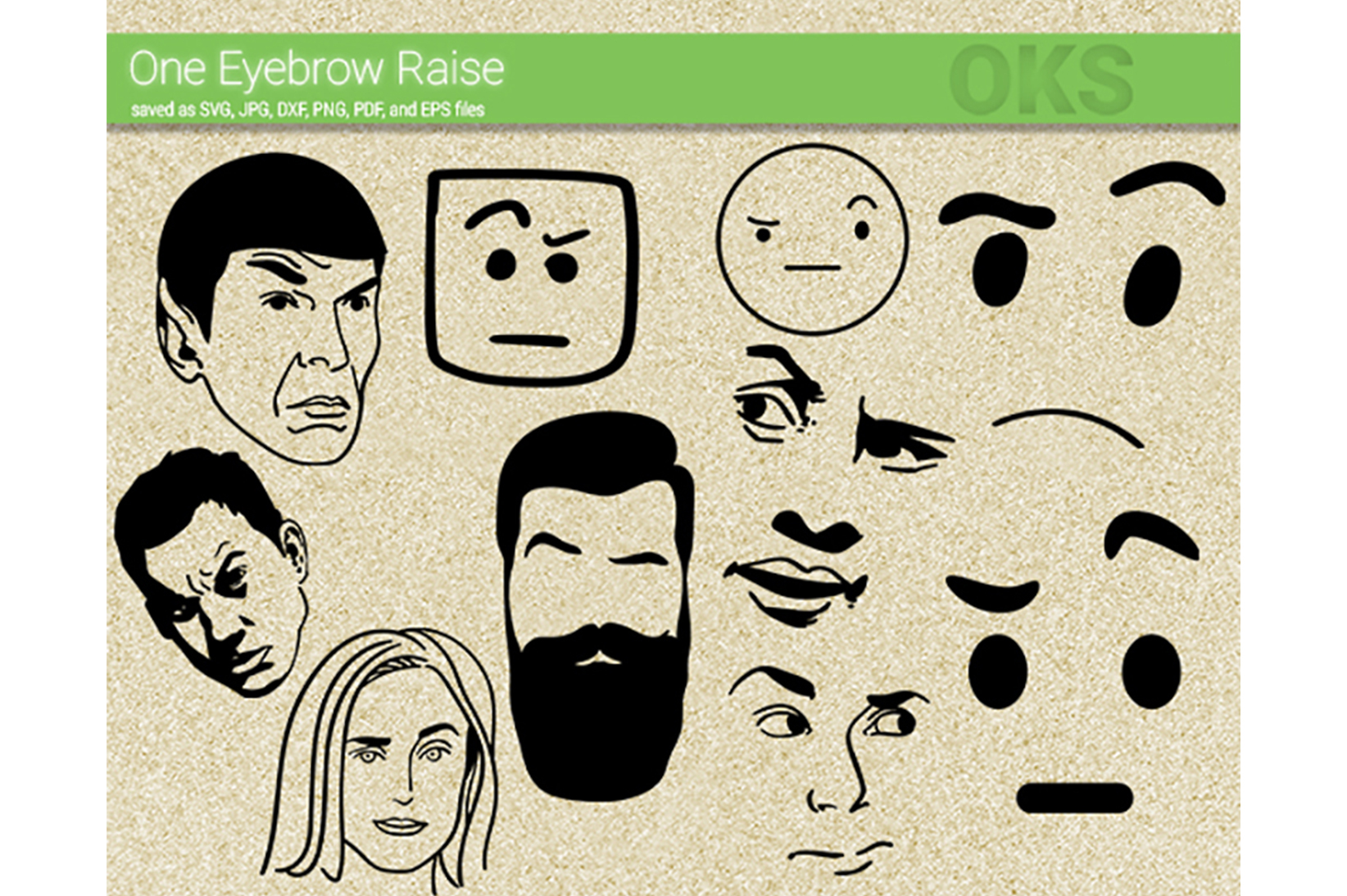 Download Free One Eyebrow Raise Svg Vector Graphic By Crafteroks Creative for Cricut Explore, Silhouette and other cutting machines.