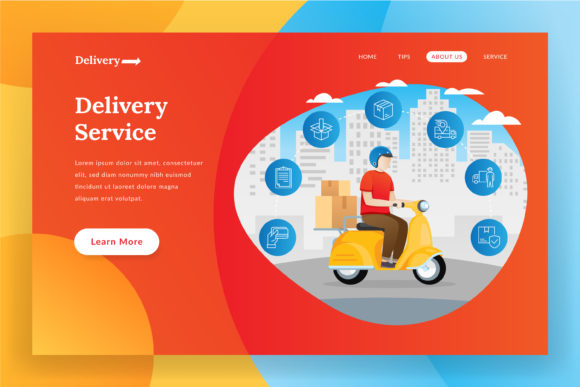 Online Delivery - Landing Page Graphic Websites By irfanfirdaus19 - Image 1