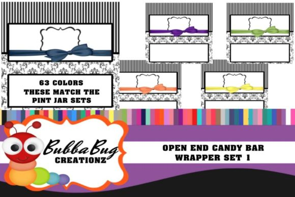 Open End Candy Bar Wrappers Set 1 Graphic Crafts By BUBBABUG
