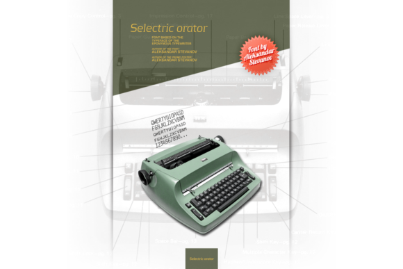 Print on Demand: Selectric Orator Sans Serif Font By astevanov