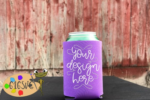 Orchid Can Cooler Mockup Graphic Product Mockups By 616SVG