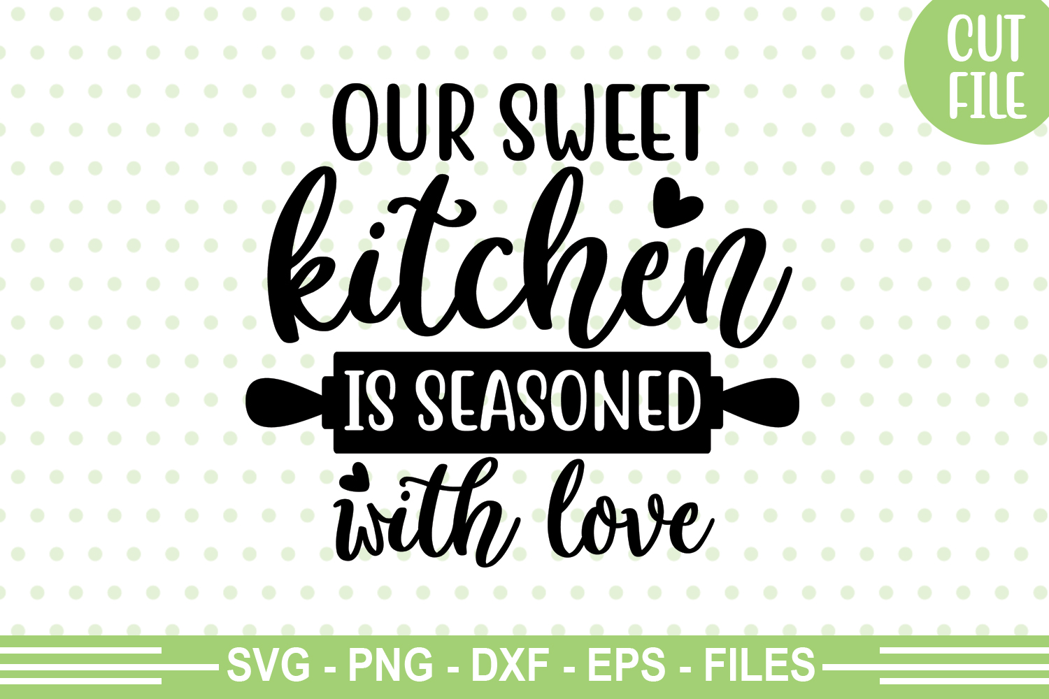 Download Free Our Sweet Kitchen Is Seasoned With Love Graphic By Svgbundle Net for Cricut Explore, Silhouette and other cutting machines.