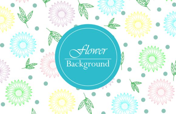 Outline Flower Background Graphic Patterns By dstudio