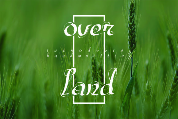 Over Land Font By esto type Image 1
