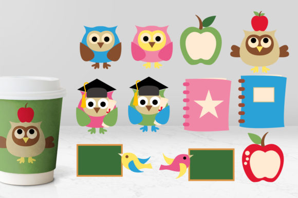 Print on Demand: Owl Back to School Graphic Illustrations By Revidevi