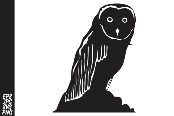 Download Free Owl Silhouette Graphic By Arief Sapta Adjie Ii Creative Fabrica for Cricut Explore, Silhouette and other cutting machines.